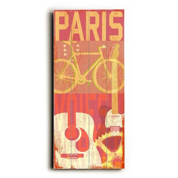 Paris-MusCycle II - Planked Wood Wall Decor by Cory Steffen