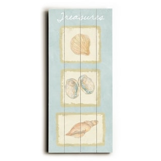 Treasures -   Planked Wood Wall Decor by FLAVIA