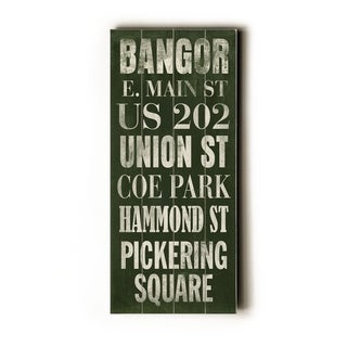 Bangor -   Planked Wood Wall Decor by Cory Steffen