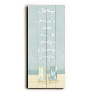 Today...Relaxation -   Planked Wood Wall Decor by FLAVIA