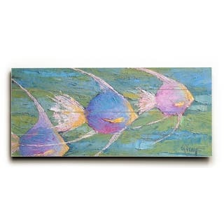 Angels On Parade - Multi Planked Wood Wall Decor by Carol Schiff