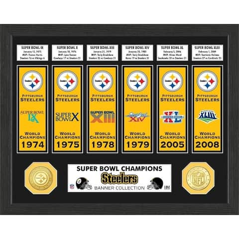 Pittsburgh Steelers Super Bowl Banner Collection Photo Mint