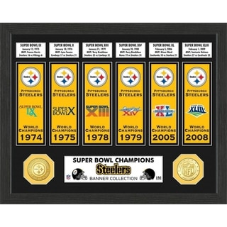 Link to Pittsburgh Steelers Super Bowl Banner Collection Photo Mint Similar Items in Fan Shop
