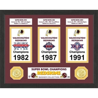 Washington Redskins Super Bowl Banner Collection Photo Mint