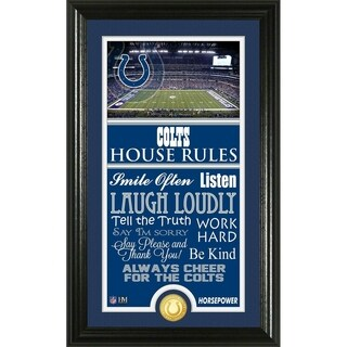Indianapolis Colts House Rules Supreme Bronze Coin Photo Mint