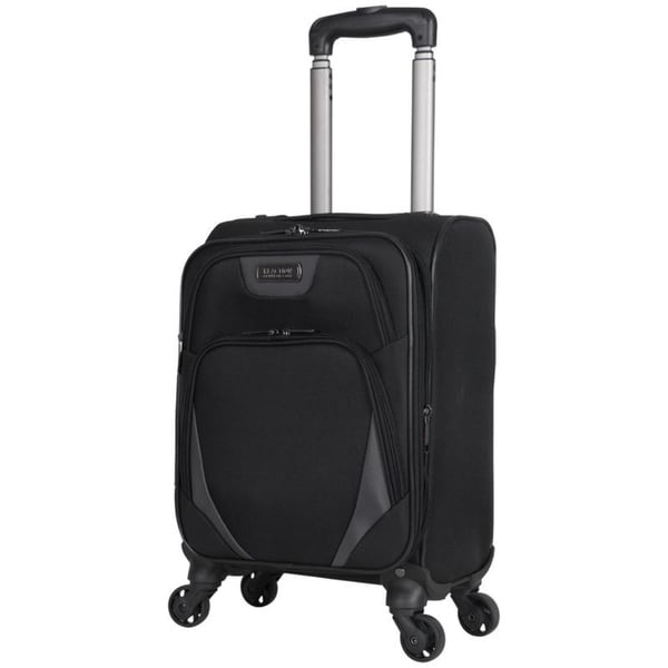 Kenneth Cole Reaction Going Places 16 Polyester Expandable 4-Wheel Carry-on Spinner Luggage Inch Black