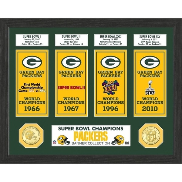 Shop Green Bay Packers Super Bowl Banner Collection Photo