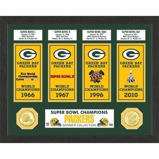 Green Bay Packers Super Bowl Banner Collection Photo Mint