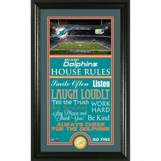 Miami Dolphins House Rules Supreme Bronze Coin Photo Mint
