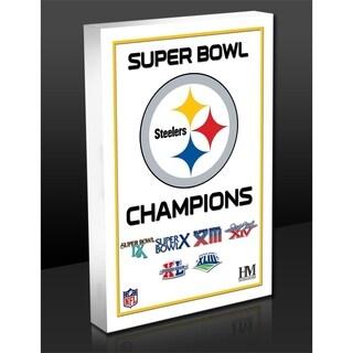 Pittsburgh Steelers 6-Time Super Bowl Champions Commemorative 3D Art Block