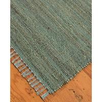 Natural Area Rugs 100% Natural Fiber Handmade Venice Jute Rectangular Rug (9' X 12') Green - 9' x 12'