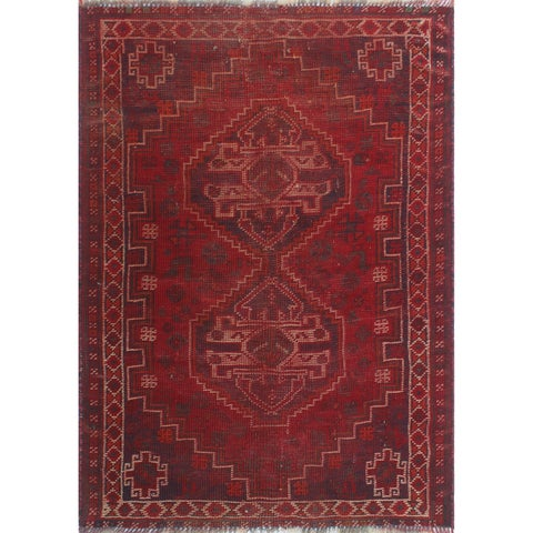 "Noori Rug Vintage Sherazi Cordero Red/Beige Rug - 2'8"" x 3'8"""