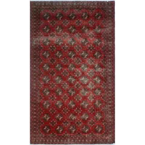 """Noori Rug Vintage Sherazi Cessy Red/Lt. Brown Rug - 4'0"""" x 6'8"""""""