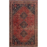 "Noori Rug Vintage Sherazi Preston Red/Blue Rug - 6'4"" x 10'0"""