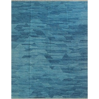 "Noori Rug Winchester Kilim Sofian Blue/Beige Rug - 8'4"" x 10'0"""