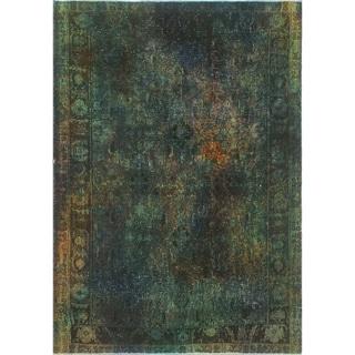 "Noori Rug Vintage Sherazi Overdyed Darcia Blue/Green Rug - 4'3"" x 5'11"""