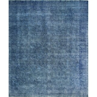"Noori Rug Vintage Distressed Overdyed Ryan Blue Rug - 9'11"" x 12'6"""