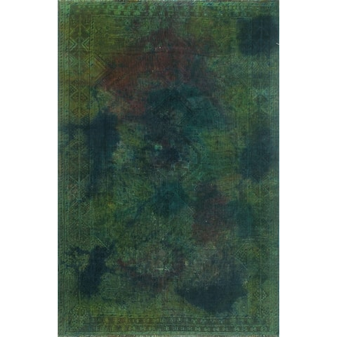"Noori Rug Vintage Overdyed Dalerin Green/Blue Rug - 5'5"" x 8'0"""