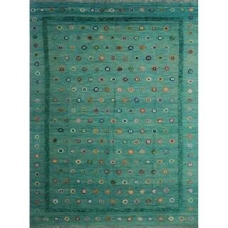 """Noori Rug Berjesta Yoneiber Green/Blue Rug - 10'0"""" x 13'2"""""""