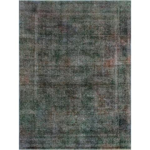 "Noori Rug Distressed Overdyed Ariadna Charcoal/Blue Rug - 8'0"" x 10'10"""