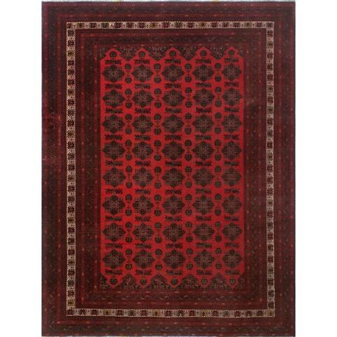"Noori Rug Turkmen Jahmal Red/Black Rug - 8'4"" x 11'0"""