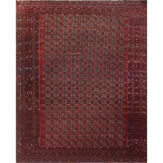 """Noori Rug Vintage Bokara Azhara Red/Ivory Rug - 11'3"""" x 13'8"""""""