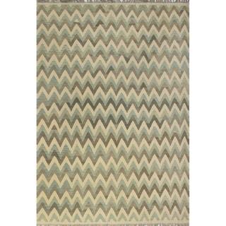 "Noori Rug Winchester Kilim Agapita Ivory/Grey Rug - 8'4"" x 11'5"""