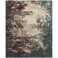 Noori Rug Fine Galaxy Kevin Ivory/Red Wool Rug - 8'0 x 9'8