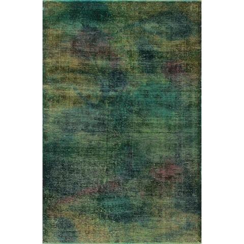 "Noori Rug Vintage Overdyed Gia Green/Blue Rug - 4'11"" x 7'8"""