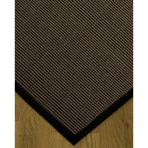 NaturalAreaRug Alma Area Rug 100% Natural Sisal Hand-Crafted Black Wide Canvas Border - 3' x 5'