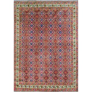 "Noori Rug Balochi Christine Pink/Ivory Rug - 5'5"" x 7'9"""