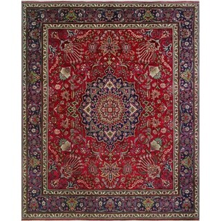 "Noori Rug Vintage Distressed AnaPaula Red/Blue Rug - 9'6"" x 11'5"""