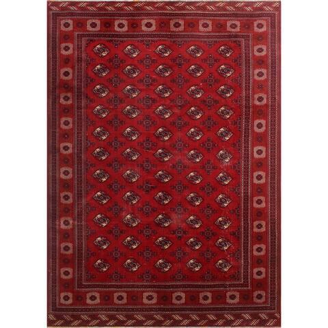 """Noori Rug Turkmen Vintage Norvyn Red/Ivory Rug - 9'6"""" x 12'9"""""""