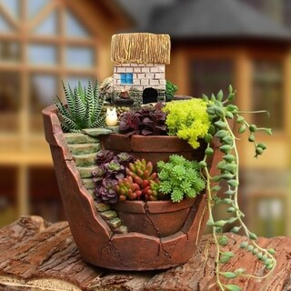 Creative Plants Pot City of Sky Succulent Plant Pot Flower Basket