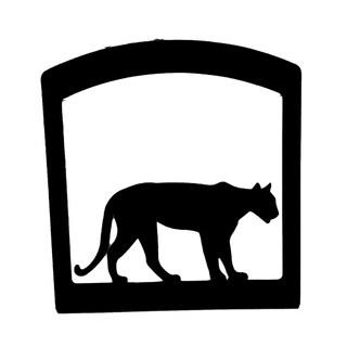 Village Wrought Iron Mountain Lion Decorative Tabletop Napkin Holder