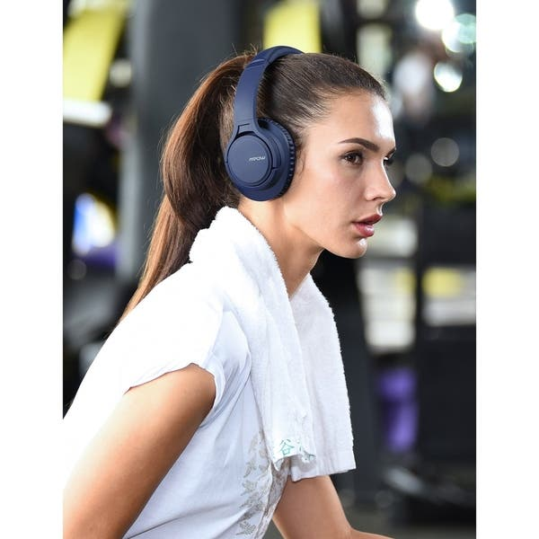 Shop Mpow Bluetooth Headphones Over Ear With Microphone Comfortable Memory Protein Earpads Overstock 22740948