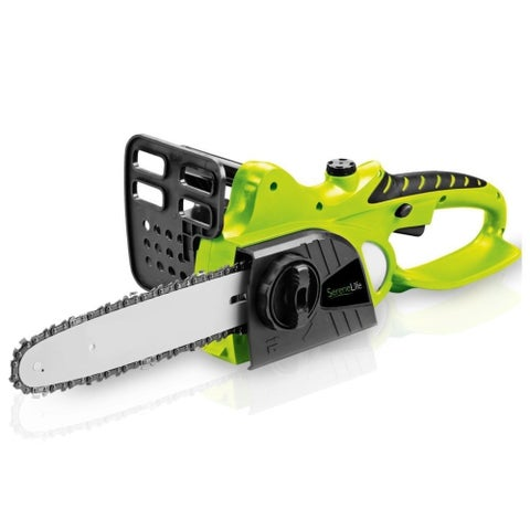 SereneLife PSLCHSAW1815 18V Cordless Chainsaw Electric Home Garden Chain-Saw Cutter with Rechargeable Battery - 12 Inch