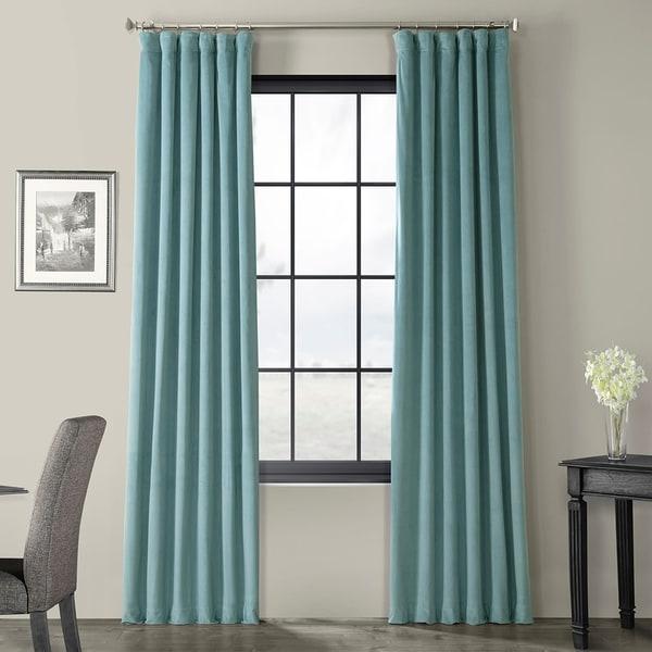 Exclusive Fabrics Signature Blackout Velvet Curtain. Opens flyout.