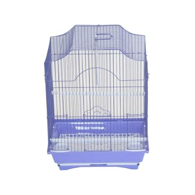 YML A1334PUR Cornerless Flat Top Bird Cage with Removable Plastic Tray, Medium - Purple