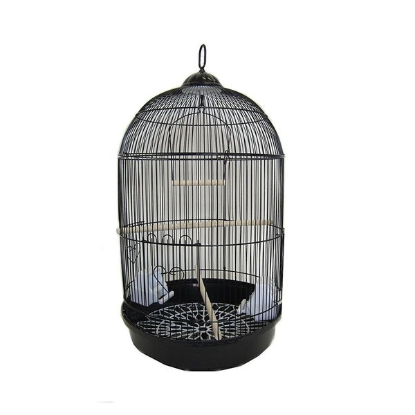 Shop Yml A1564blk Bar Spacing Round Bird Cage With Removable Plastic