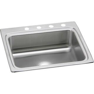 """Elkay Lustertone Stainless Steel 25"""" x 22"""" x 8-1/8"""", Single Bowl Top Mount Sink"""