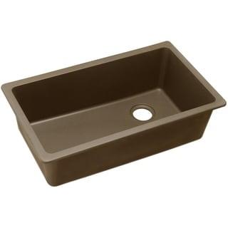 "Elkay Quartz Classic 33"" x 18-3/4"" x 9-1/2"", Single Bowl Undermount Sink, Mocha"