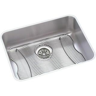 """Elkay Lustertone Stainless Steel 23-1/2"""" x 18-1/4"""" x 7-1/2"""", Single Bowl Undermount Sink Kit"""