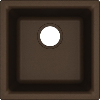 "Elkay Quartz Classic 15-3/4"" x 15-3/4"" x 7-11/16"", Single Bowl Dual Mount Bar Sink, Mocha"