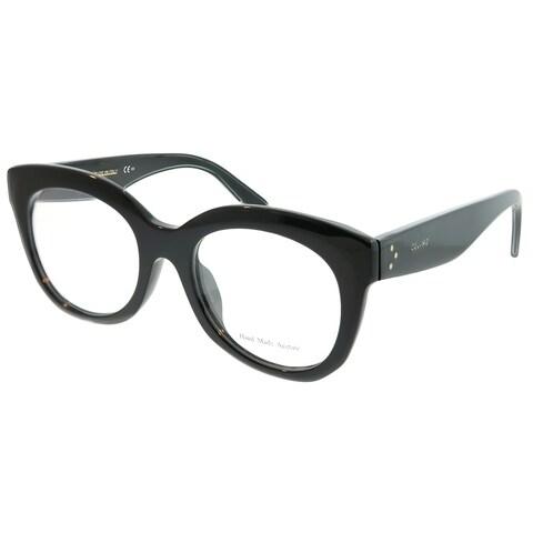 Celine Square CL 41368/F Marta Asian Fit 807 Unisex Black Frame Eyeglasses