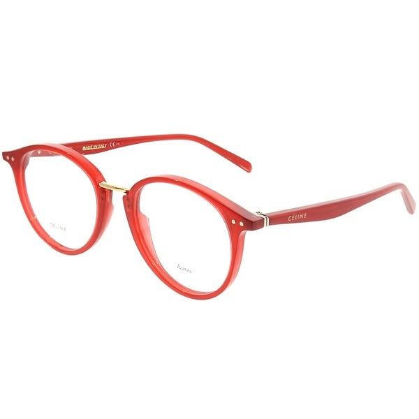 d76070d54ae0 Celine Round CL 41406 Twig Arch SQ1 Unisex Burgundy Frame Eyeglasses