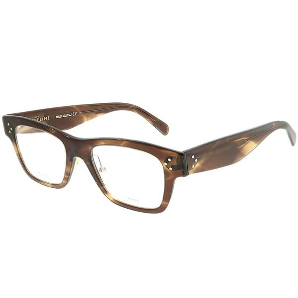 54c9f885fe8 Celine Rectangle CL 41428 07B Unisex Havana Brown Frame Eyeglasses