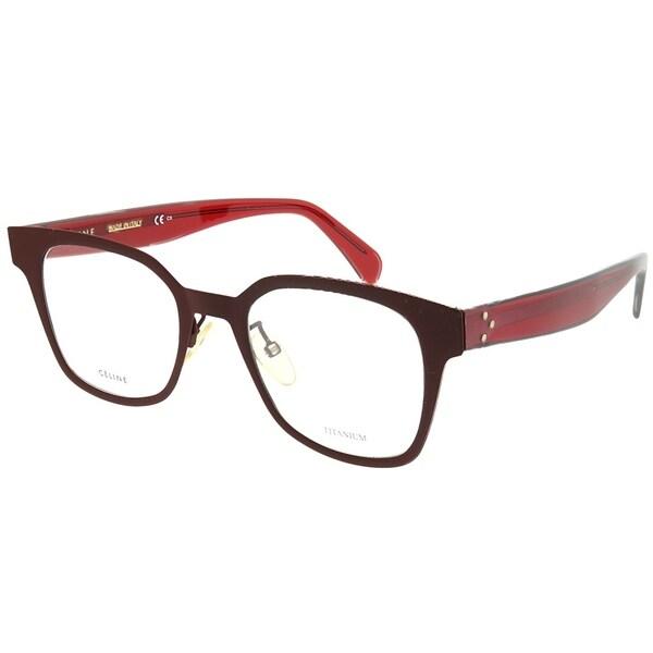 5b8c2cc422 Celine Square CL 41456 LHF Unisex Opal Burgundy Frame Eyeglasses