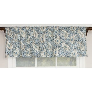 RLF Home Paisley Verveine Straght Window Valance - BlueJay