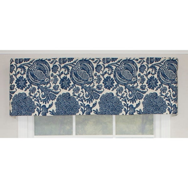 shop rlf home batik straight window valance navy free